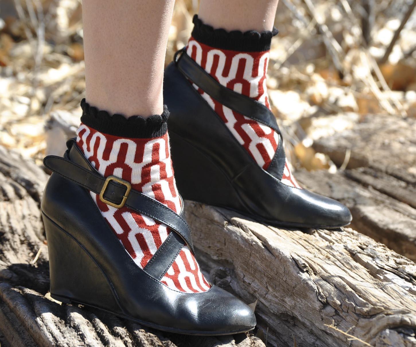 Hippe sokken Amelia Red Anklet Sweet Marcel