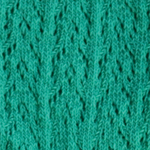 Crochet Crew Socks smaragdgroen tabbisocks