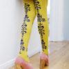Floral Chain Over-the-Knee Socks geel tabbisocks