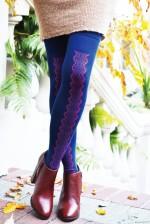 Vintage Lace Over-the-Knee Socks donkerblauw tabbisocks