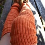 Scrunchy dark orange tabbisocks