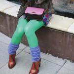 Luxury Knit Leg Warmers periwinkle Tabbisocks