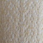 Shimmery Crochet OTK ivory/gold tabbisock