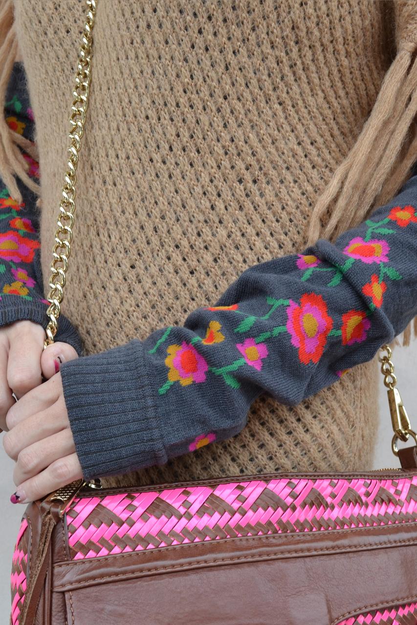 Flower Field arm warmers middle grey tabbisocks