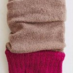 Color Block Arm Warmers caramel/raspberry tabbisocks