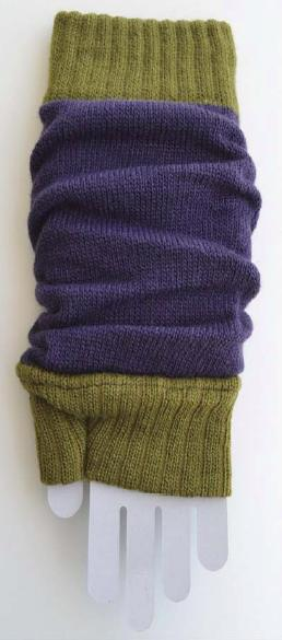 Color Block Arm Warmers dark purple/green tea tabbisocks