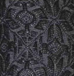 Snow Flakes Textured Tights black tabbisocks