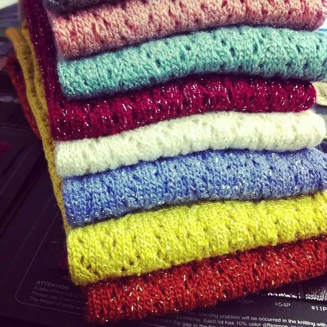 Shimmery Crochet OTK tabbisocks