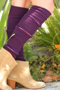 Scrunchy purple tabbisocks