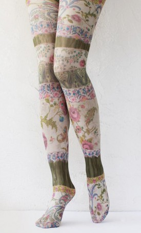 Desert winds printed opaque tights tabbisocks