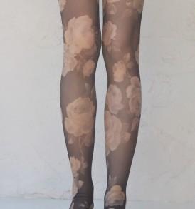 Classic rose pantyhose tabbisocks