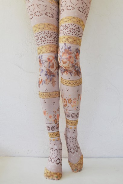 Daydream printed opaque tights tabbisocks