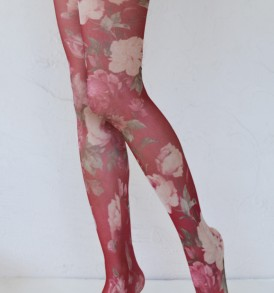 Roses in bloom pantyhose tabbisocks