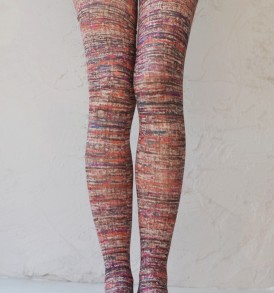 Sun dusk printed opaque tights tabbisocks