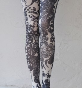 French affair printed opaque tights tabbisocks