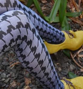 Houndstooth fashion tights tabbisocks