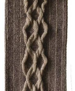 Cuffed Cable oatmeal tabbisocks