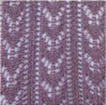 Crochet fashion tights mauve tabbisocks